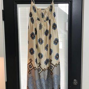 Banana Republic 100% Silk Maxi Dress